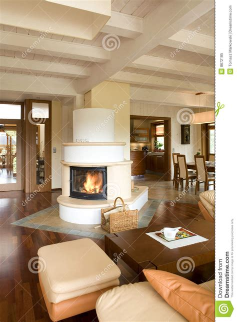 stylish modern living room  fireplace royalty