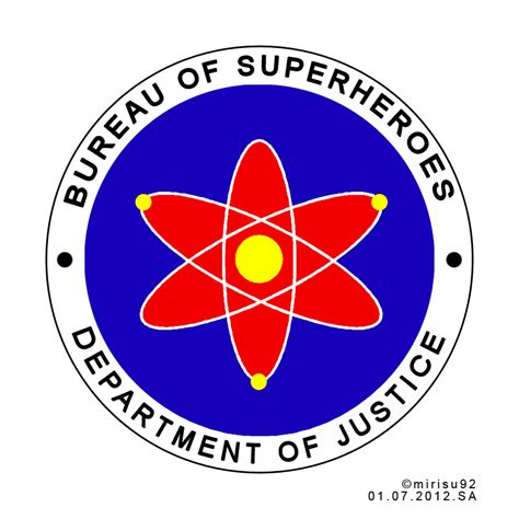 bureau of bureau of superheroes official seal draft by mirisu92 on