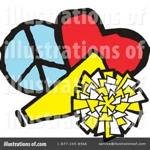 Blue Cheer Megaphone Clipart Royalty Free Rf Illustration Cheerleading Clipart 1116742 Illustration By Johnny Sajem