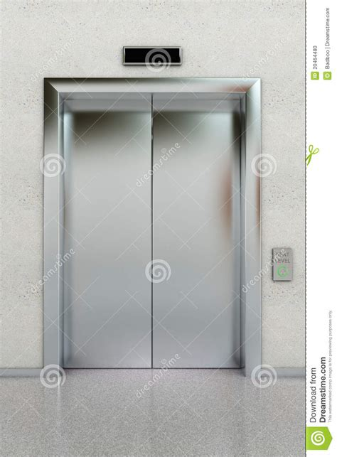 elevator doors closing closed elevator stock illustration image of illuminated