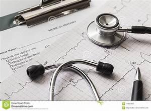Medical Diagram Stethoscope Stock Photos