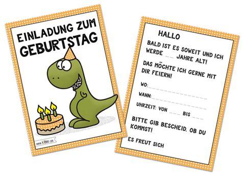 einladungskarten einladung kindergeburtstag jungen dino