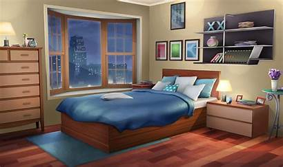 Bedroom Anime Background Night Fancy Apartment Episode
