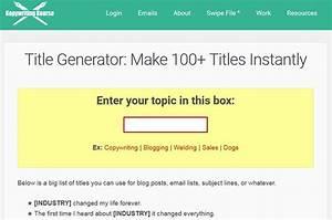 20 Best Blog Title Generator Tools In 2020