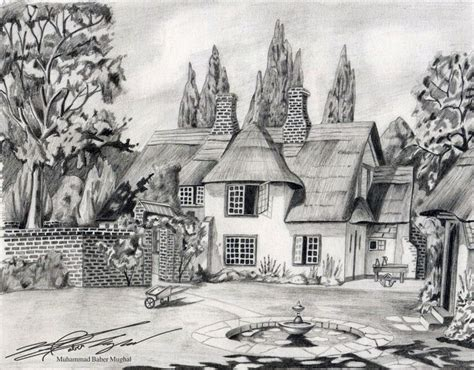 Beautiful Simple House Sketch by House Sketches Pencil Sketches Of Nature Scenery