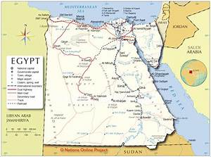 Political Map of Egypt - Nations Online Project