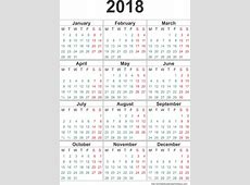 Yearly Calendar 2018 calendar 2017 printable