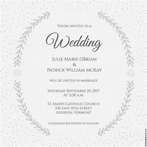stylized laurels wedding invitation free printable With wedding invitations layout examples