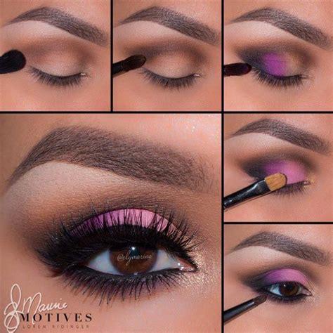 flattering colorful eye makeup  brown eyes