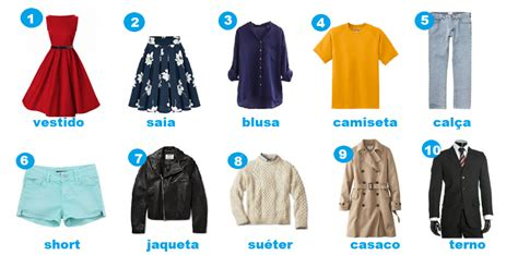 how to clothes clothes and accessories in portuguese portuguese