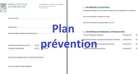 mod 232 le plan de pr 233 vention doc word cours g 233 nie civil - Modèle Plan De Prévention