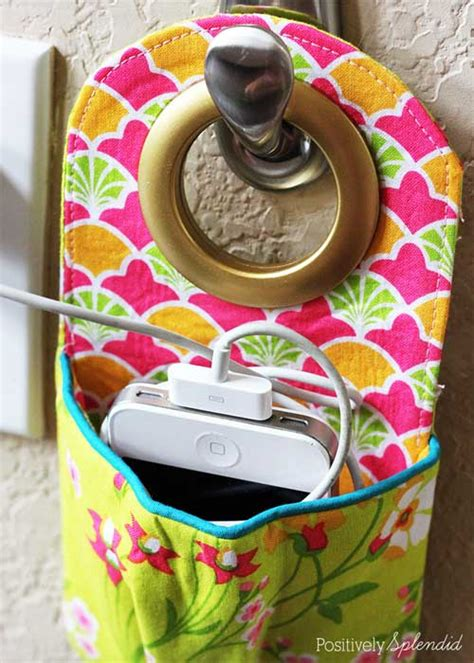 fabric phone charging station  sewing tutorial