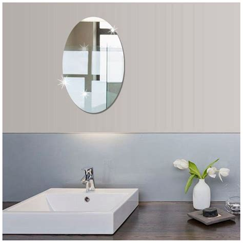 Bathroom Mirror Adhesive by 10 6x 16 5 Inch Small Size Bathroom Self Adhesive