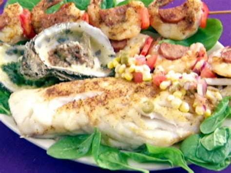 grouper grilled fillets salsa creole recipes recipe food bobby seared pan network salad pineapple