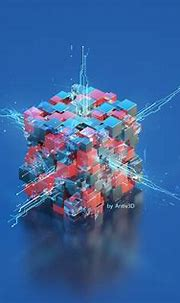 3d abstract cube on Behance | Abstract, Comic art sketch, Cube