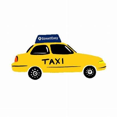 Taxi York Nyc Cab Giphy Gifs Streeteasy