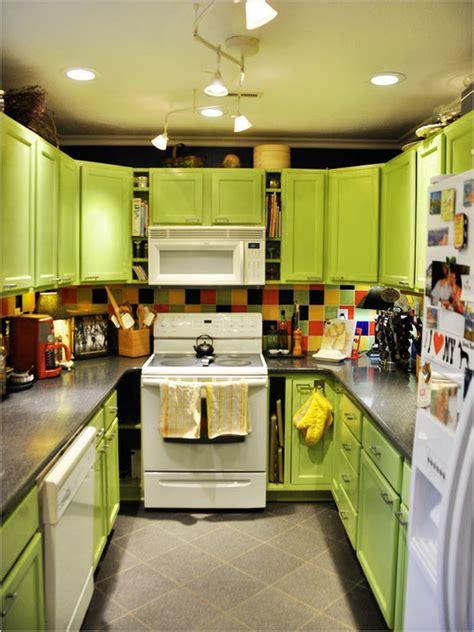 lime green kitchen paint مطبخ صغير المرسال 7099
