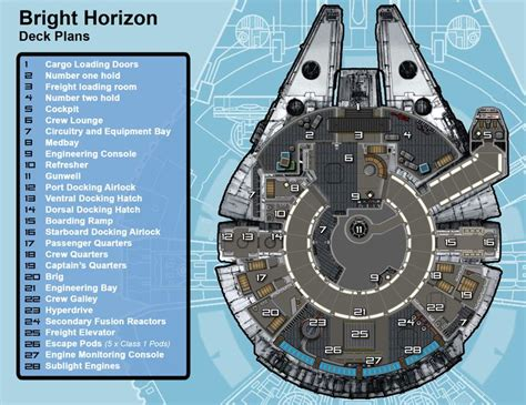 Starship Deck Plans Wars by Bright Horizon Deck Plans By Jedidave 142 Deckplans