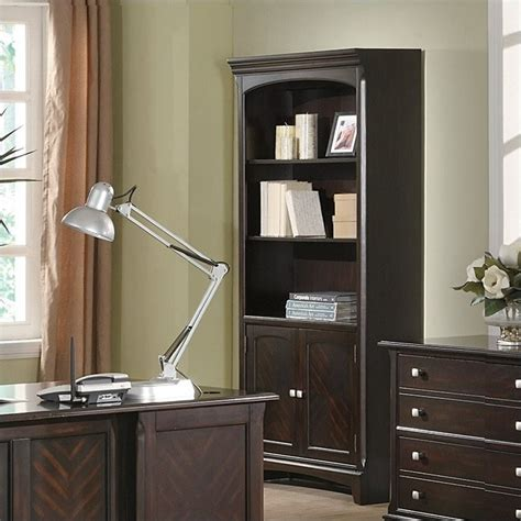 bookshelf with cabinet base coaster garson open bookcase with storage cabinet base in