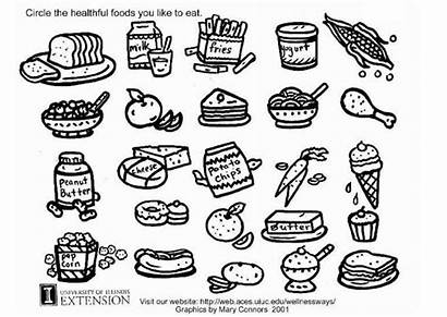 Coloring Pages Healthy Snacks Getcoloringpages Printable Chinese
