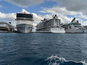 MSC Seaside ported next to Carnival and NCL. | MSC Seaside ...