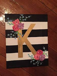 floral letter canvas by charmingcanvases on etsy addelyn With letters to paint over