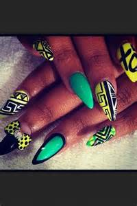 Stiletto nails polish design acrylic hairnbeautyz