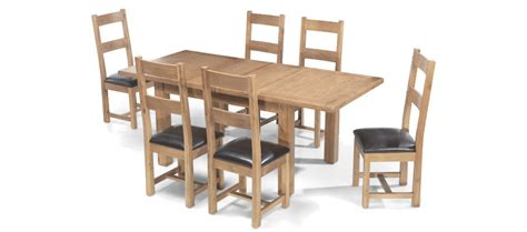 rustic oak   cm extending dining table   chairs
