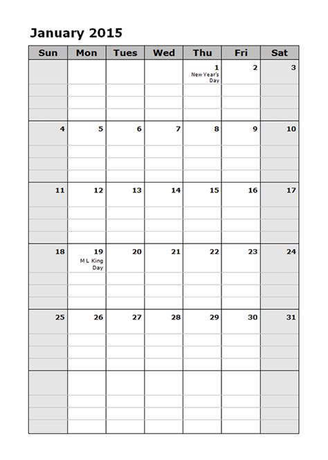monthly calendar template sadamatsu hp