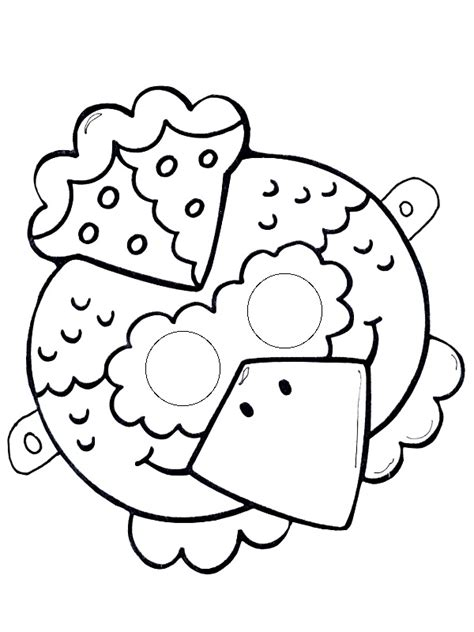 chicken mask tamplate funnycrafts
