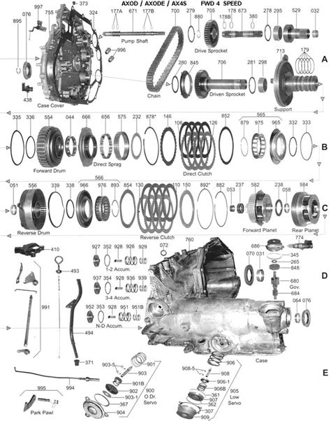 Gm Transmission Wiring Diagram Hecho by Ford Transmisiones Automaticas Despiece Componentes