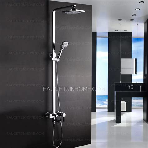 wall mounted bathroom sinks modern designed outdoor exposed shower faucet system