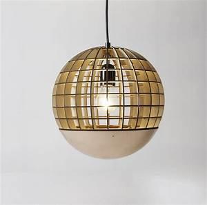 Suspension Boule Cuivre : suspension globe bois cuivre 28cm massow design luminaires nedgis ~ Teatrodelosmanantiales.com Idées de Décoration