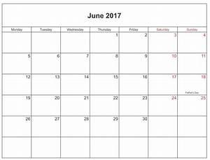 June 2017 Printable Calendar Templates | Free Printable ...
