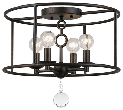 flush mount caged ceiling fan modern cage ceiling chandelier flush mount ceiling