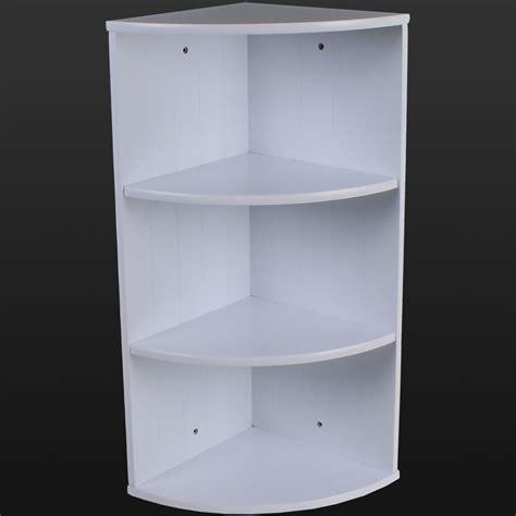 Bathroom Storage Units by 56 Bathroom Shelves Unit Gloss White Bamboo Ladder Shelf