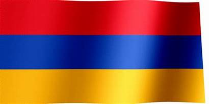 Flag Armenia Waving Flags Orange Animated