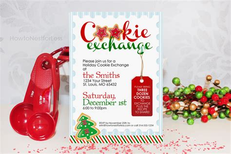 Cookie Invitation Template by Cookie Exchange Free Printables How To Nest For