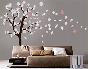 tree wall decal white cherry blossom wall decal cherry With white wall decals