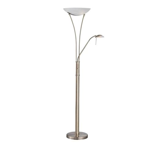 torchiere l shade replacement home depot illumine 2 1 light floor l brass finish the home