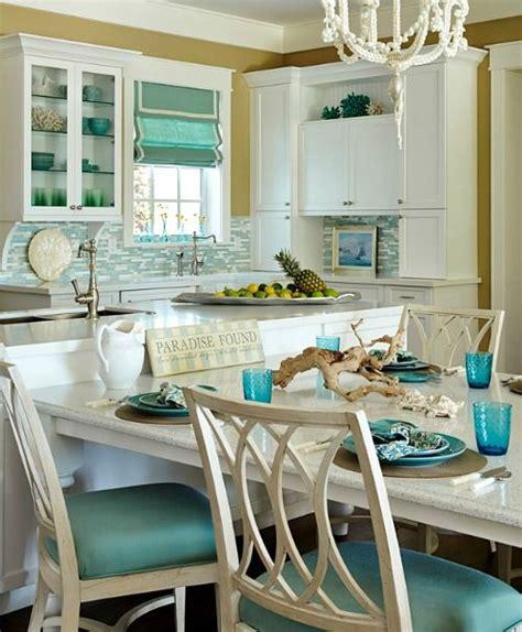 Kitchen Themes Ideas by Turquoise Blue White Theme Kitchen Coastal