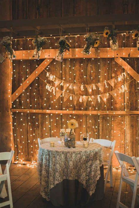 curtain topper ideas 30 indoor barn wedding decor ideas with lights