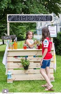 Verkaufsstand Selber Bauen : diy limonadenstand aus europalette bauen kinder pinterest palette verkaufsstand und ~ Orissabook.com Haus und Dekorationen