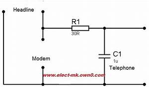 A Simple Circuit To Filter The Phone Line Interference From The Dsl
