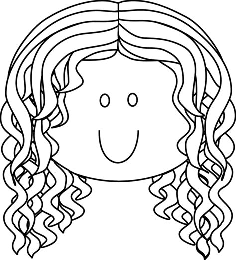pretty smiling lady  long curly hair school