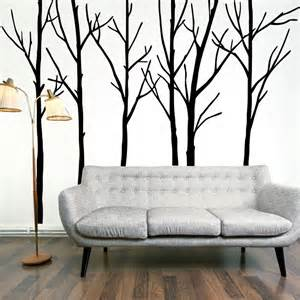 extra large black tree branches wall art mural decor