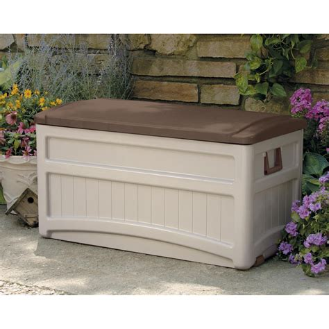 suncast morel premium 73 gallon deck box with wheels