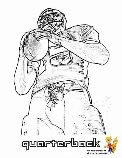 Coloring Football Pages Printable Player College Players