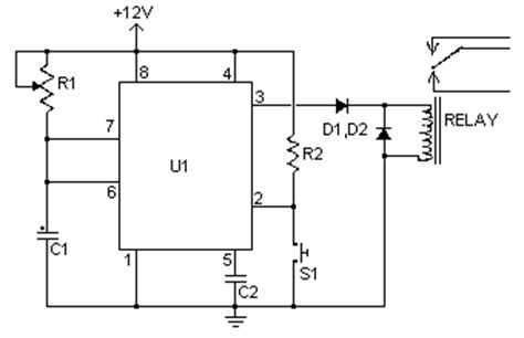 Time Delay Relay Wiring Diagram With Sensor by How To Build Time Delay Relay Circuit Diagram