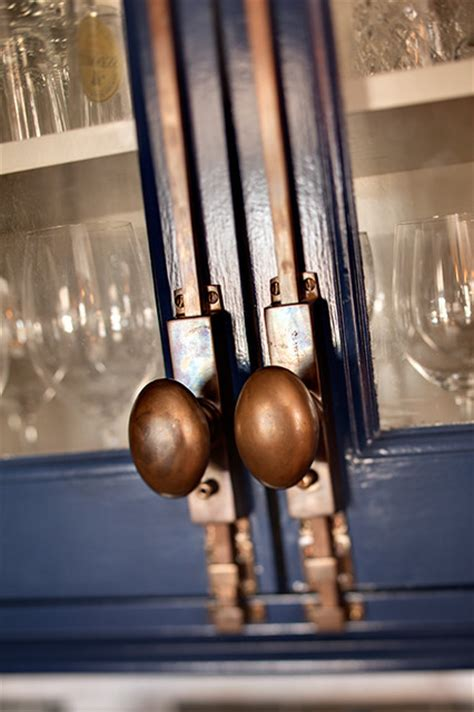 Cremone Bolt For Cabinet Doors by Hardware Detail Eclectic Kitchen Milwaukee By